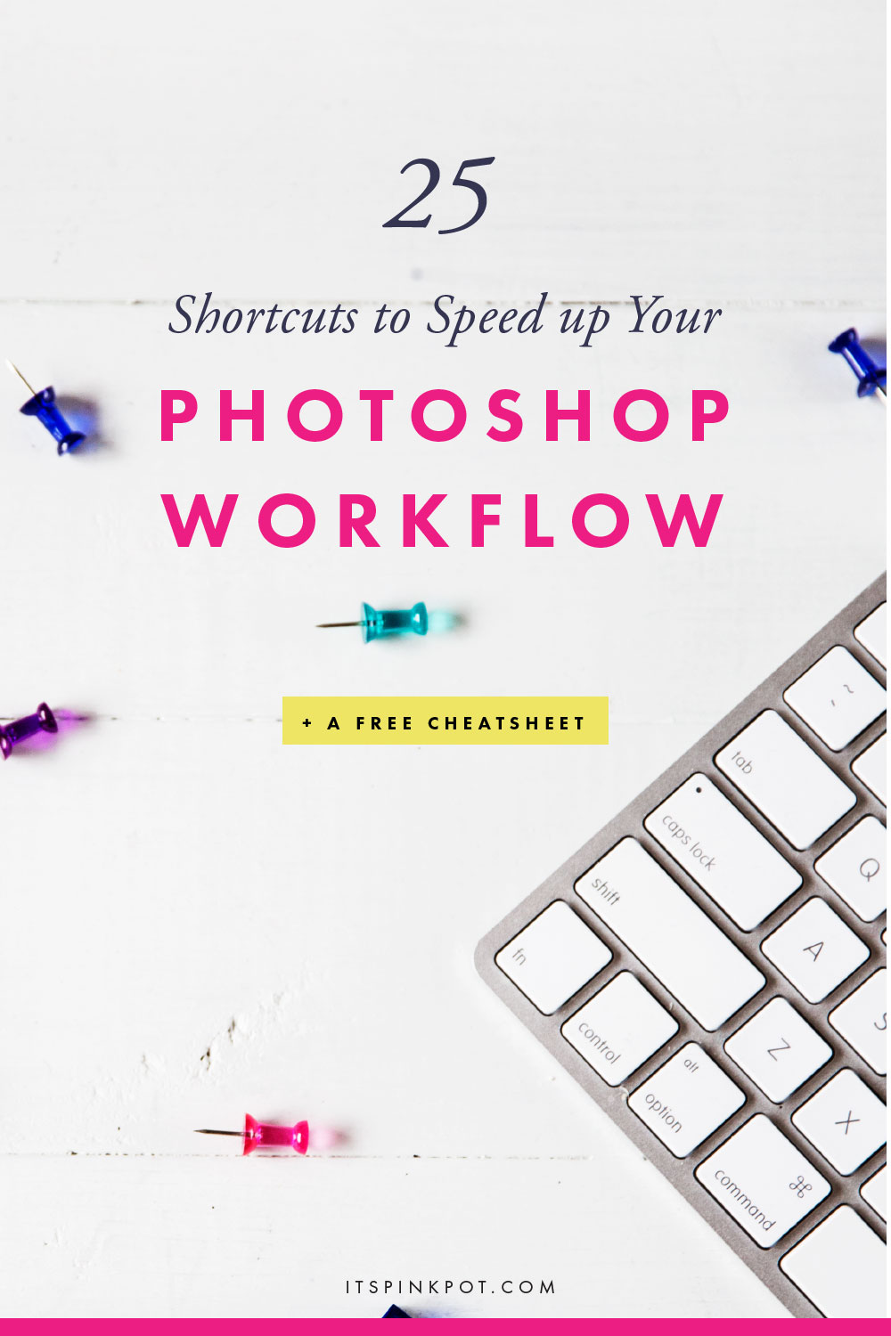 These 25 Photoshop shortcuts and tricks will speed up your workflow and save you a lot of time in your blog & Business. Plus Download a FREE cheatsheet too!