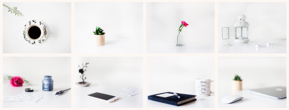 FREE minimalistic styled photo pack for creatives and bloggers! Download now for use on your blog or website!