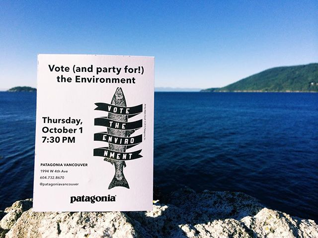 The upcoming election is important. This Thursday, October 1, 2015 @patagoniavancouver is hosting the voter education group @dogwoodbc to help easily outline each candidates environmental platforms. Along with the healthy serving of information they will also be providing refreshments from @persephonebrewing and @juicetruck. Hope to see you there! #VoteTheEnvironment #TempleOfStoke