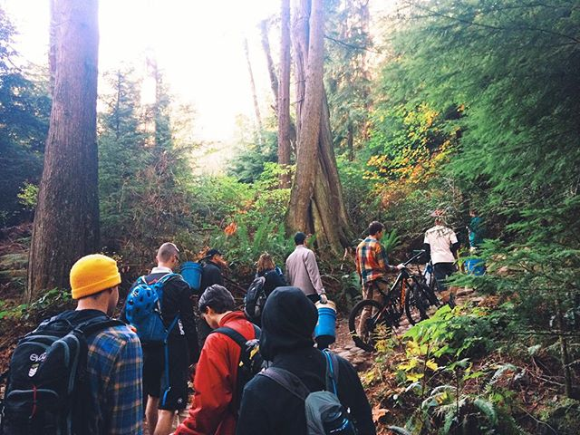 Such a solid crew out at today's trailday on Mount Seymour. #trailbuilding