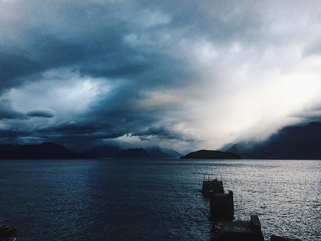 Howe Sound, before heading into the hills.