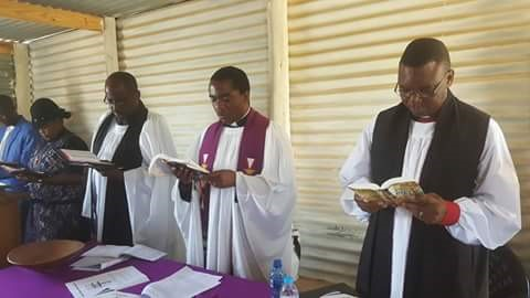 Bishop Njabulo preaching and participating in the service at Bethlehem church, Katatura, Windhoek.