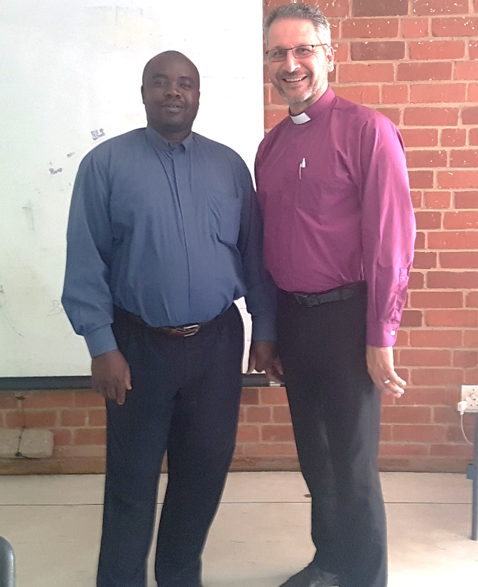 "Sunday Morning preaching at BASIC Church in Windhoek – with their pastor ""KK""."