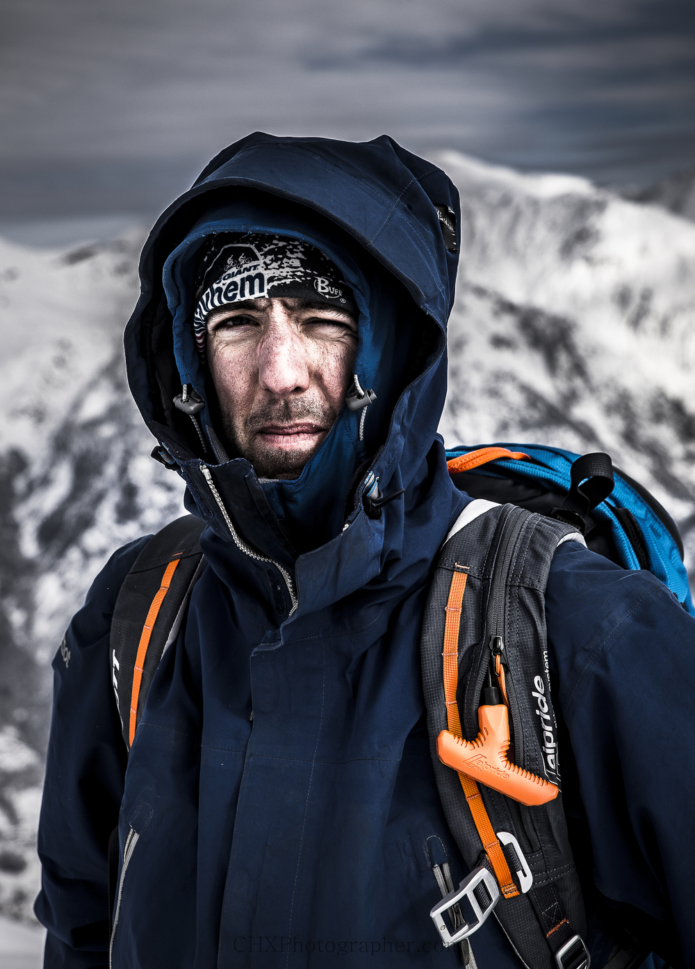 A cold & windy day on the mountain with Oli Carr