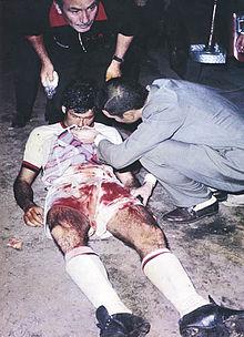Nestor Combin after EdlP vs Milan in 1969