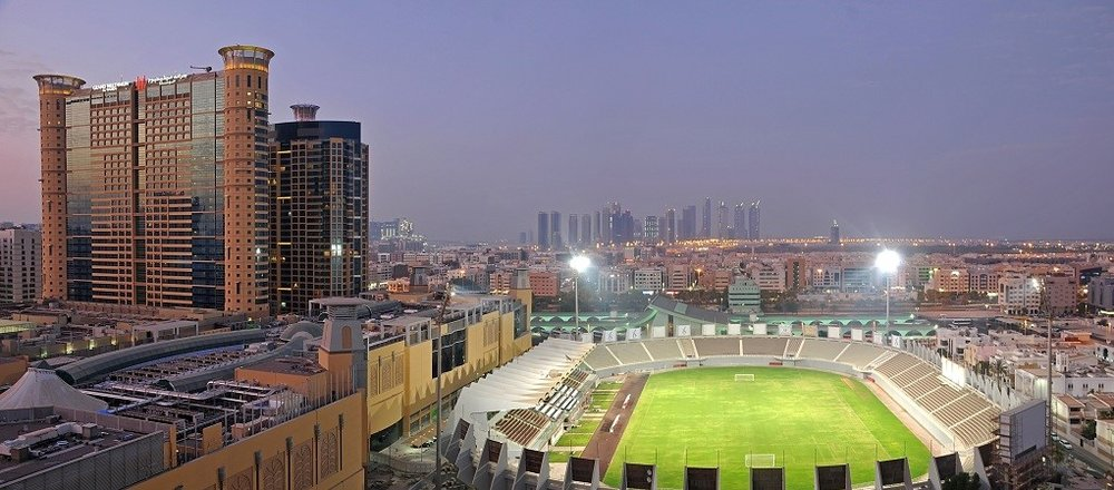 The 11,456 capacity Al Nahyan Stadium, home to Al Wahda FC since 1995.