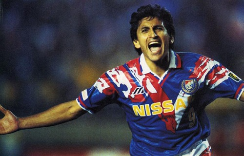 Ramón Díaz  - top scorer in the inaugural J League season of 1993 (28 goals).