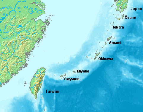 Nansei-shotō  - meaning 'southwest islands' (aka Ryukyu Islands in English) is the part of Japan that's closer to China and Taiwan than 'mainland' Japan.