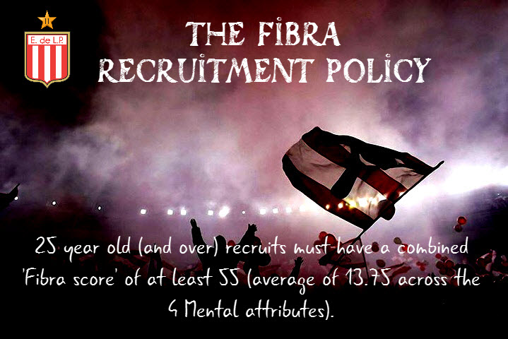 The Fibra Recruitment Policy for FM18.