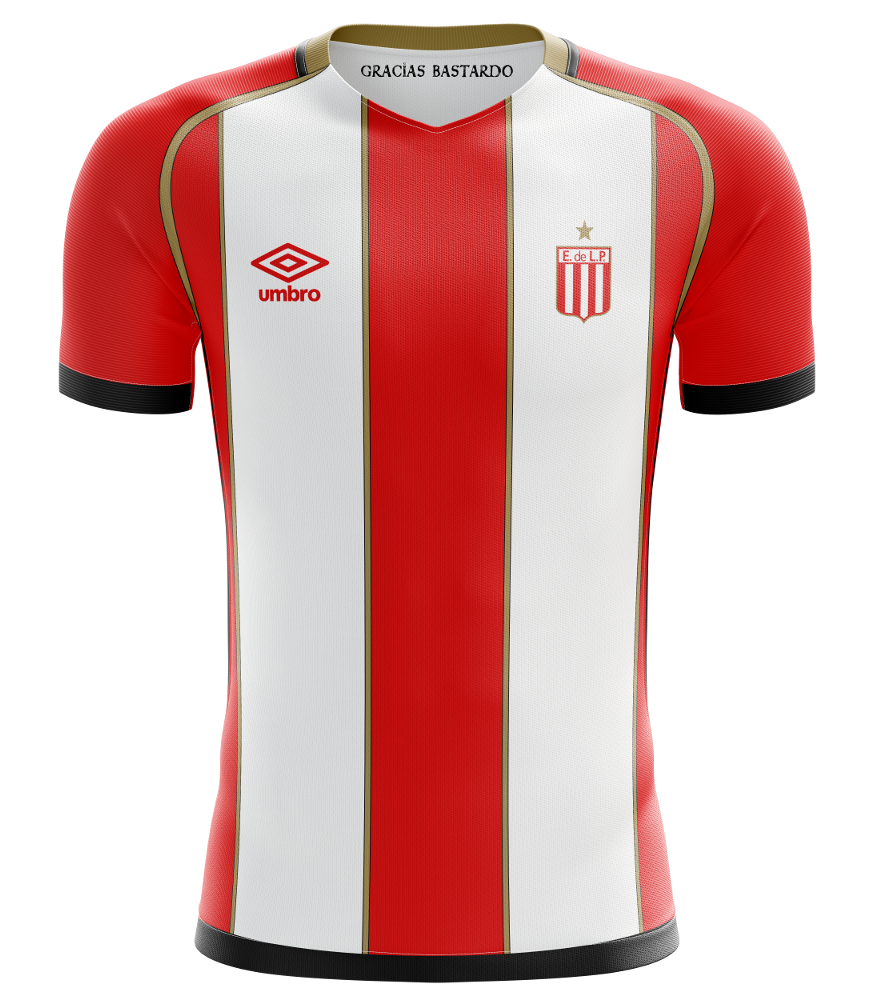 Spoiler: the 2024/25 Estudiantes home shirt as designed by  Keysi Rensie  #GraciasBastardo