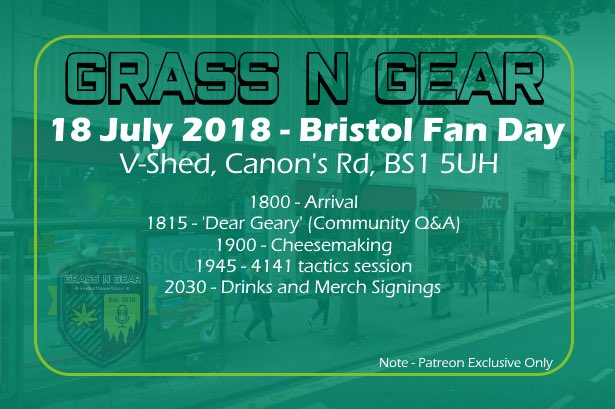The 2018 GnG Fan Day was a massive success, with four people turning up (including Grass N Gear).
