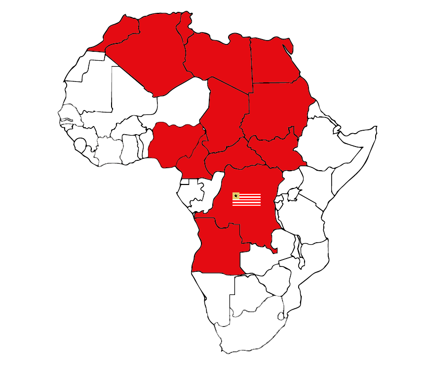 """Africa is red""."