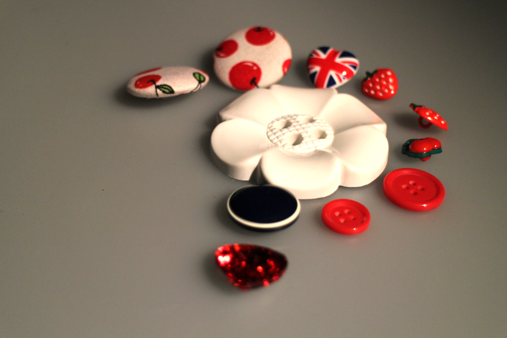 buttons-white-background