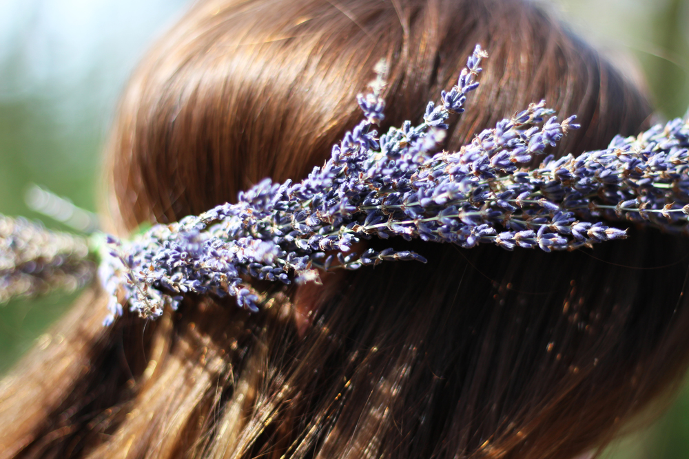 DIY Lavender Floral Crown