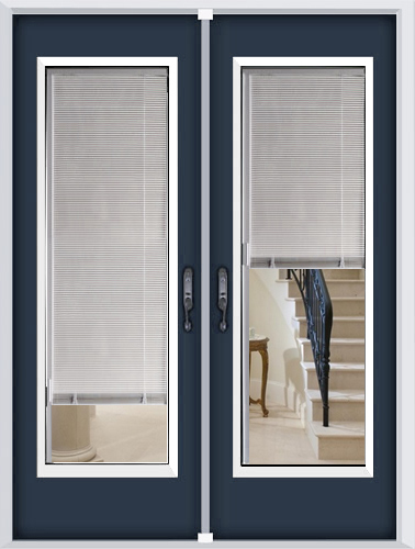 Distinctive Glass Inserts Miniblinds Glass Door Inserts