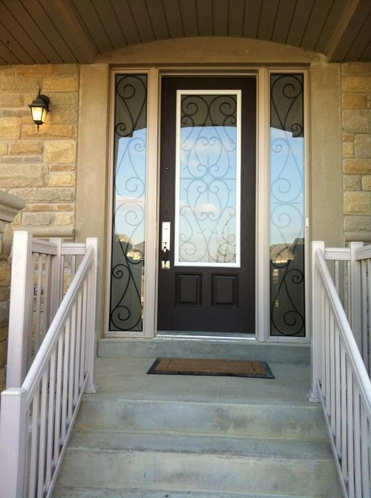Bristol-Wrought-iron-Glass-Door-Inserts-Ajax-Ontario