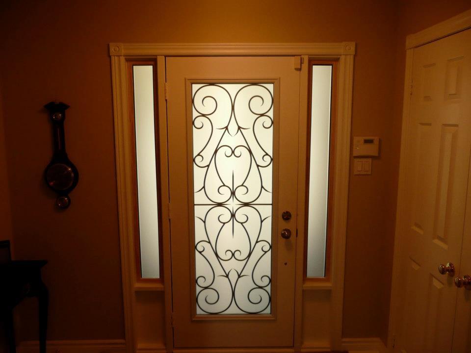 Bristol-Wrought-iron-Glass-Door-Inserts-Uxbridge-Ontario