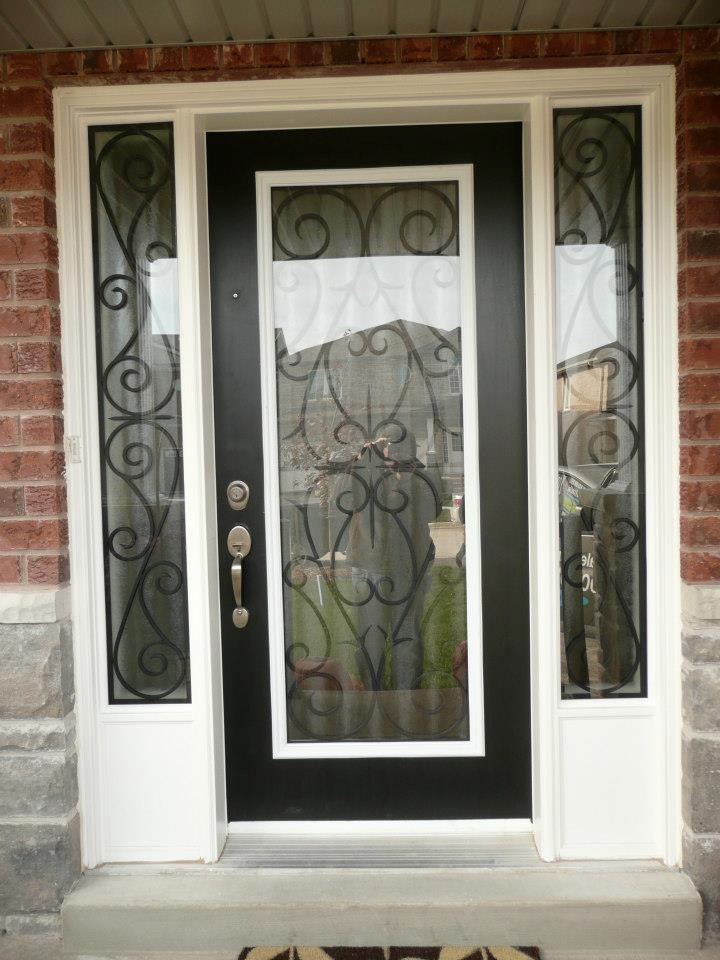 Bristol-Wrought-iron-Glass-Door-Inserts-Wasaga-Beach-Ontario