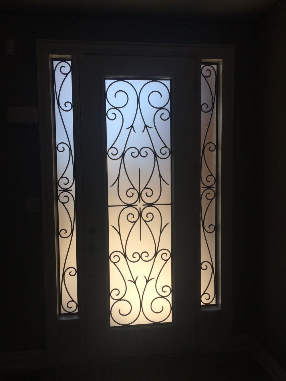 Bristol-Wrought-iron-Glass-Door-Inserts-Collingwood-Ontario