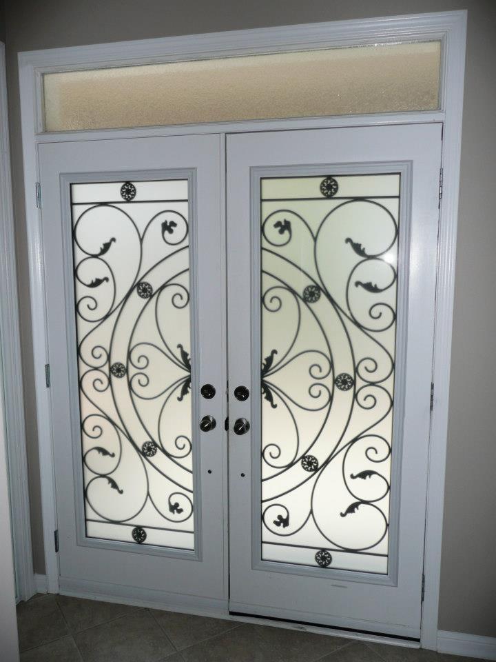 Campbellsford-Wrought-Iron-Glass-Door-Inserts-Hamilton-Ontario