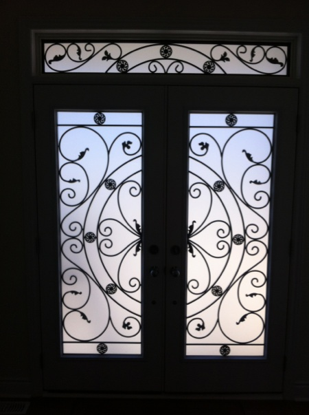 Campbellsford-Wrought-Iron-Glass-Door-Inserts-Ancaster-Ontario