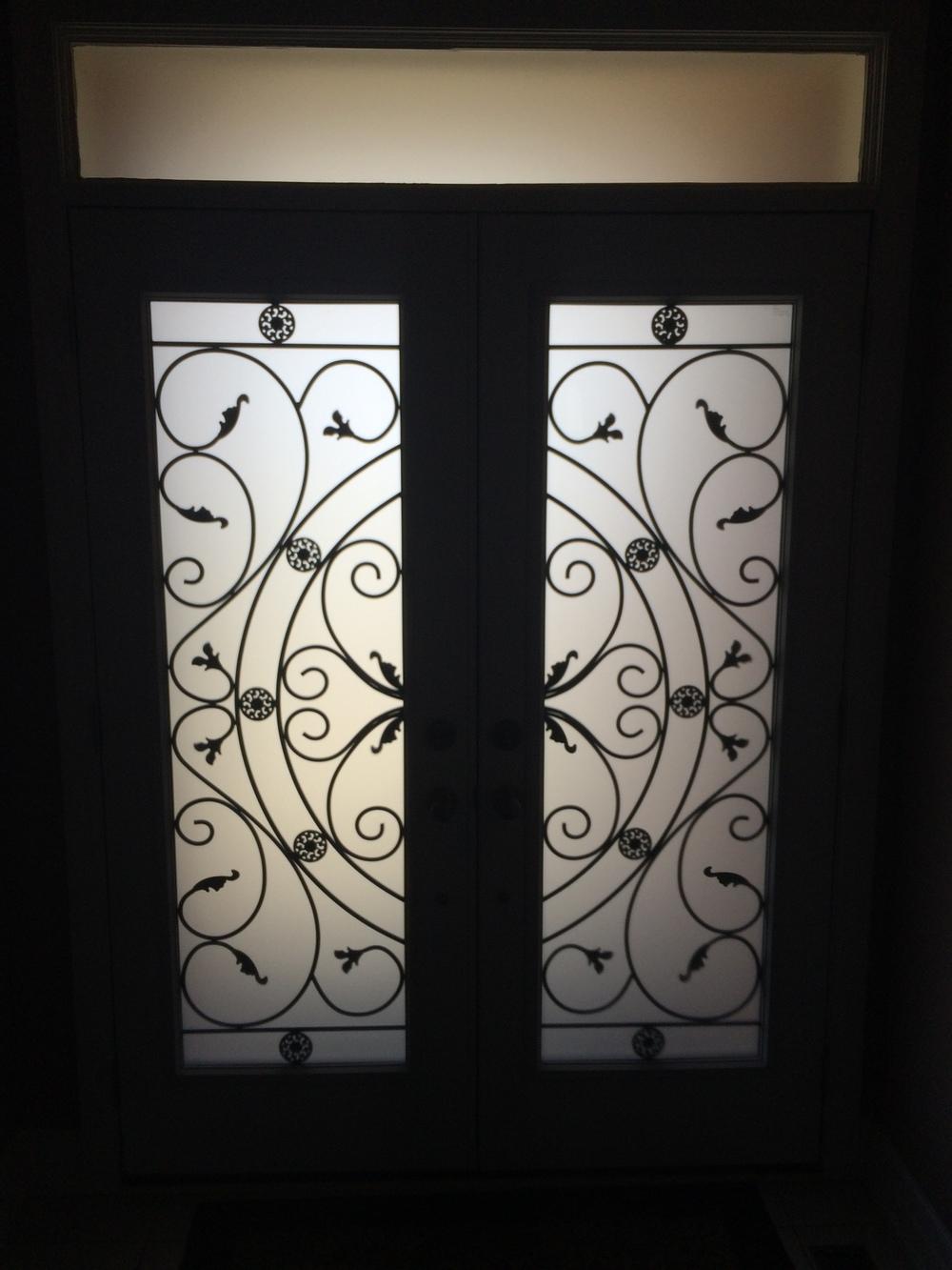 Campbellsford-Wrought-Iron-Glass-Door-Inserts-waterdown-Ontario