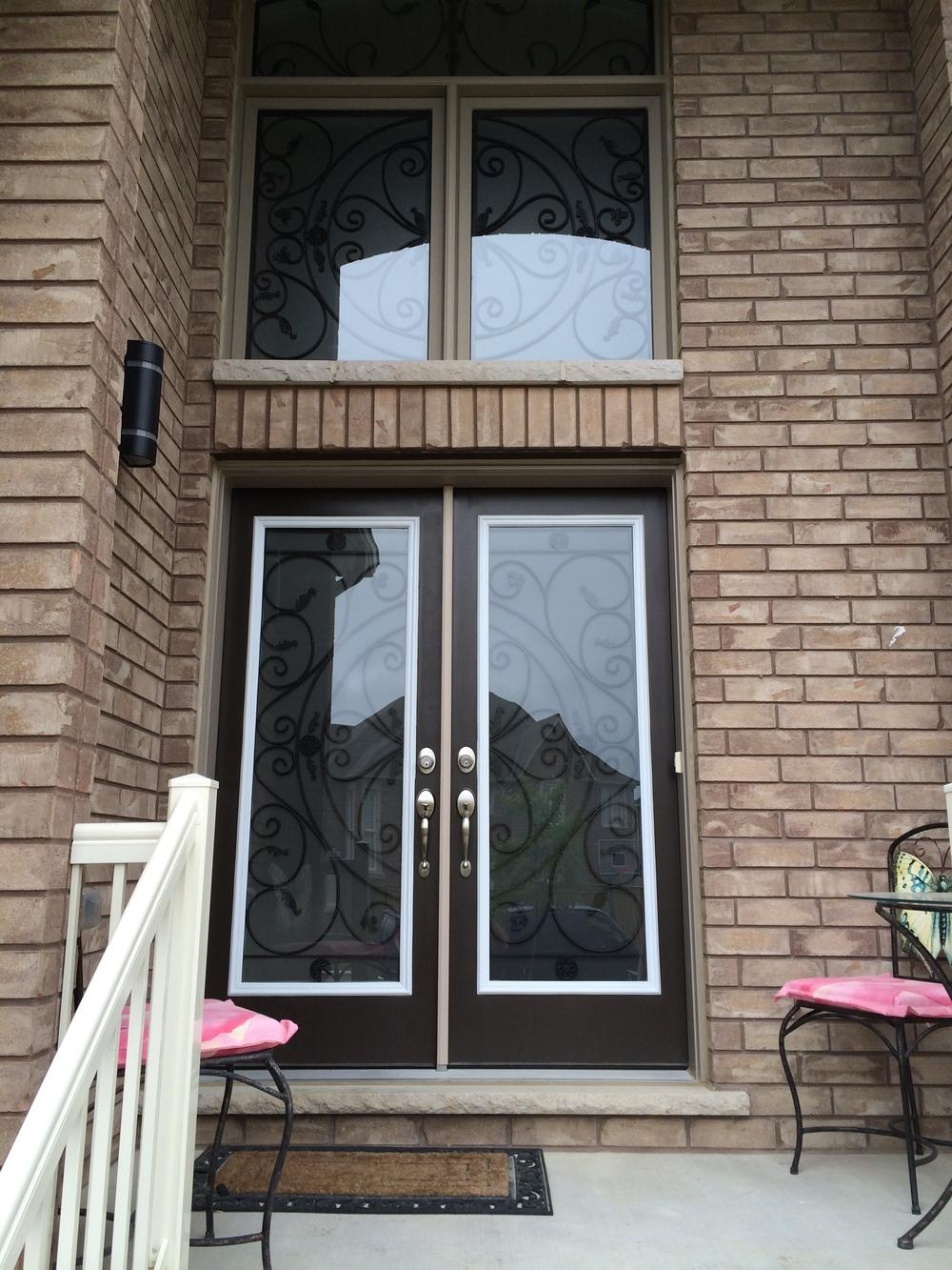 Campbellsford-Wrought-Iron-Glass-Door-Inserts-Burlington-Ontario