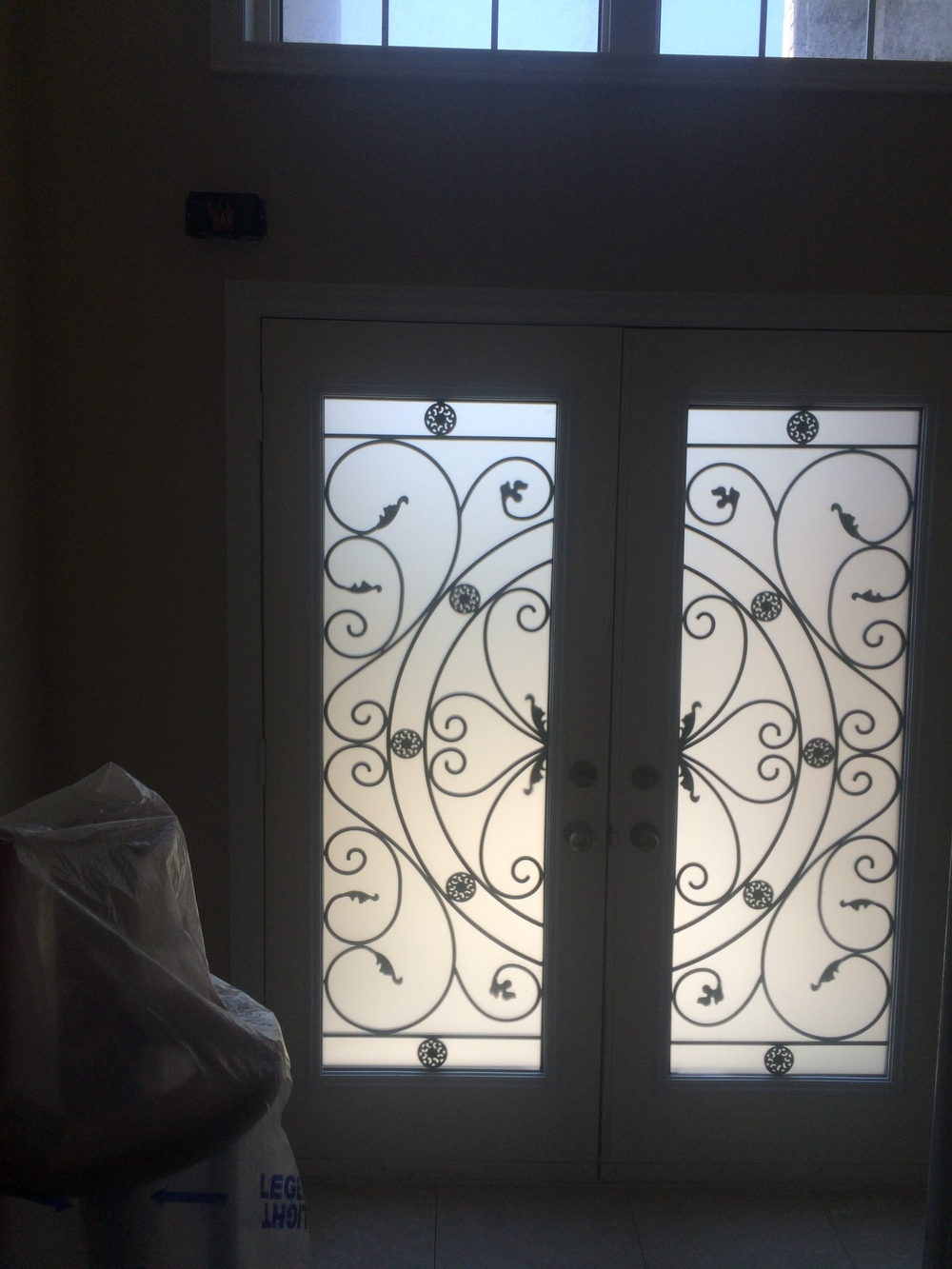 Campbellsford-Wrought-Iron-Glass-Door-Inserts-vaughan-Ontario