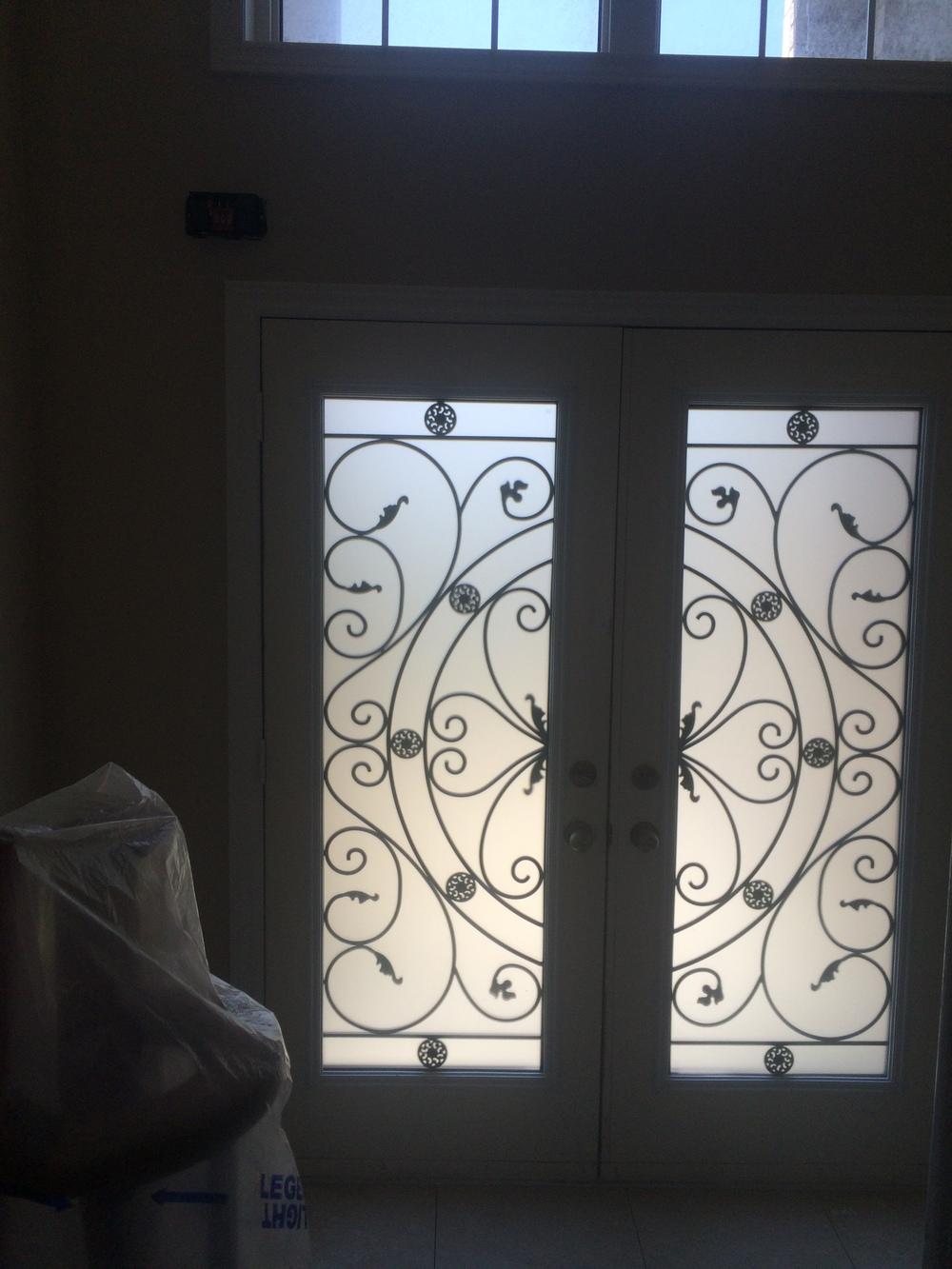 Campbellsford-Wrought-Iron-Glass-Door-Inserts-vaughan-Ontario