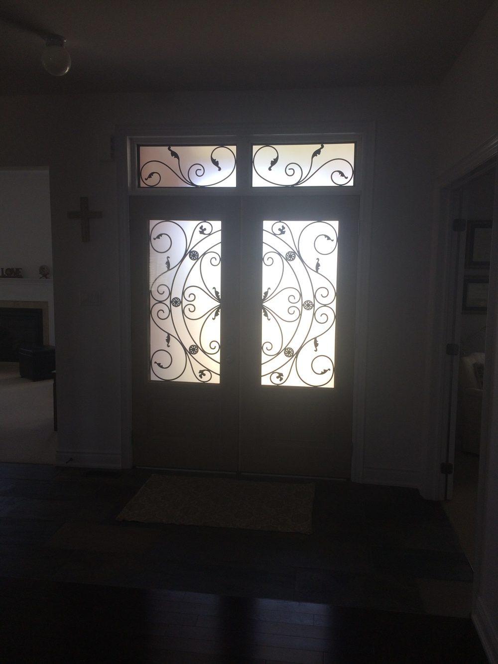Campbellsford-Wrought-Iron-Glass-Door-Inserts-Markham-Ontario