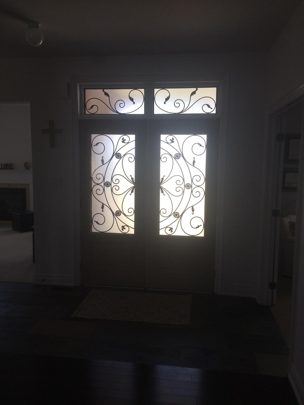 Campbellsford-Wrought-Iron-Glass-Door-Inserts-Markham-Ontario