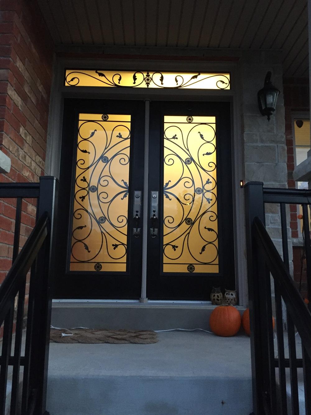 Campbellsford-Wrought-Iron-Glass-Door-Inserts-Richmond-Hill-Ontario