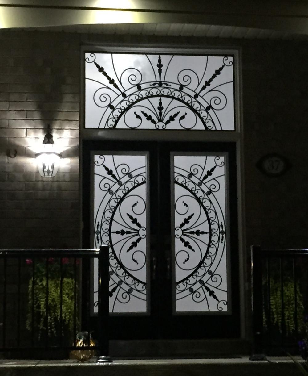 Chesterfield-wrought-Iron-Glass-Door-Inserts-Oshawa-Ontario