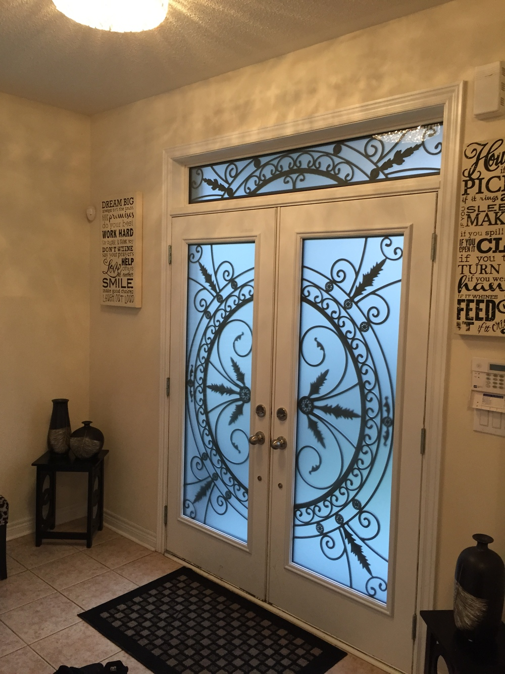 Chesterfield-wrought-Iron-Glass-Door-Inserts-Stoney-Creek-Ontario
