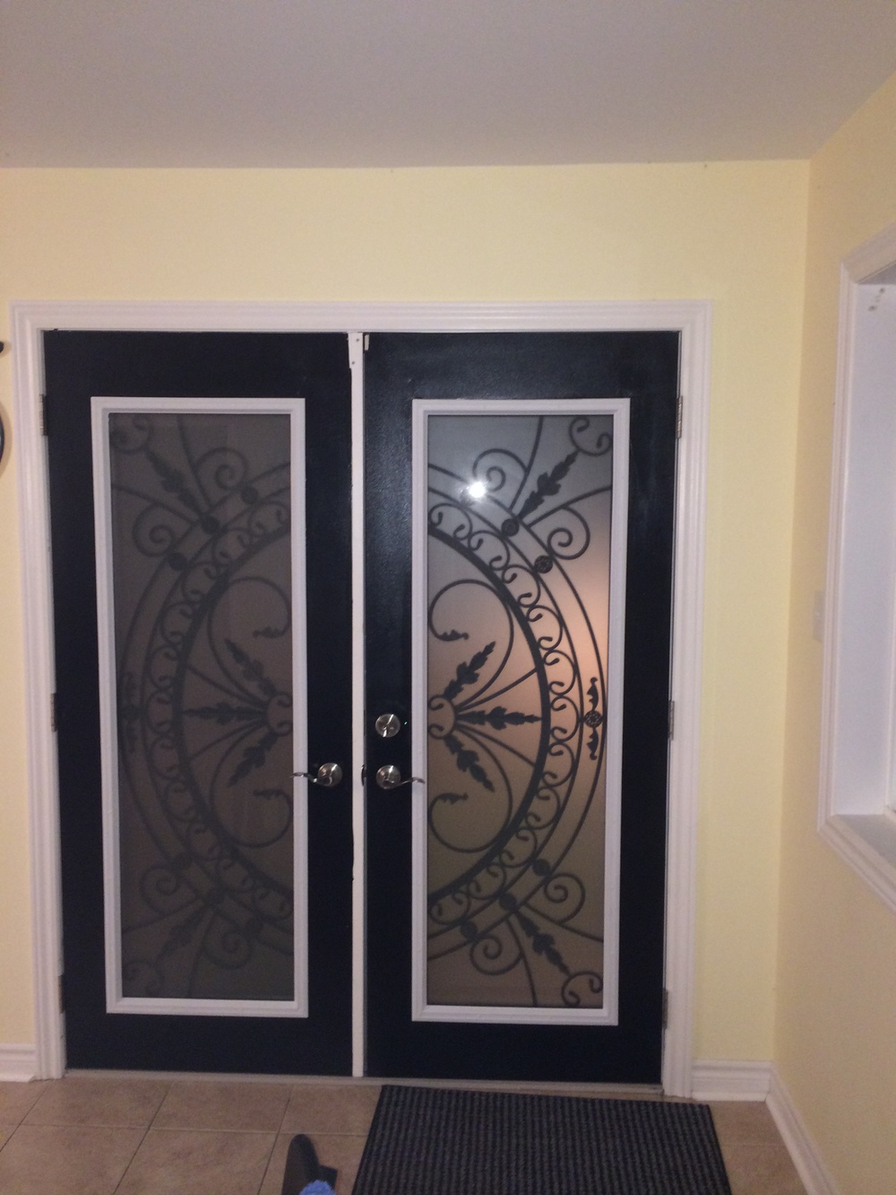 Chesterfield-wrought-Iron-Glass-Door-Inserts-Ancaster-Ontario