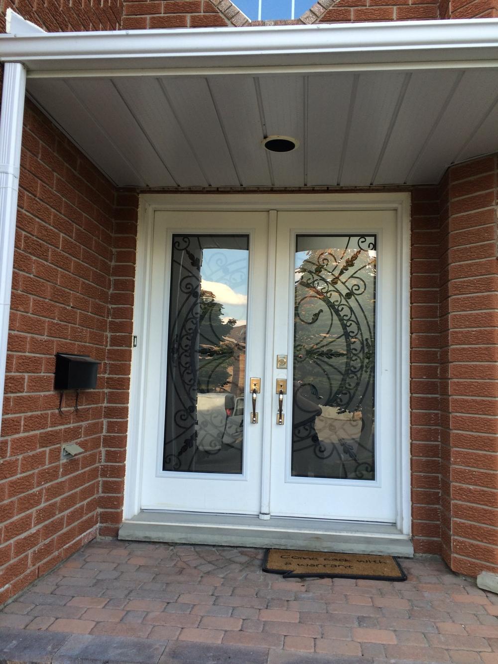 Chesterfield-wrought-Iron-Glass-Door-Inserts-Oakville-Ontario