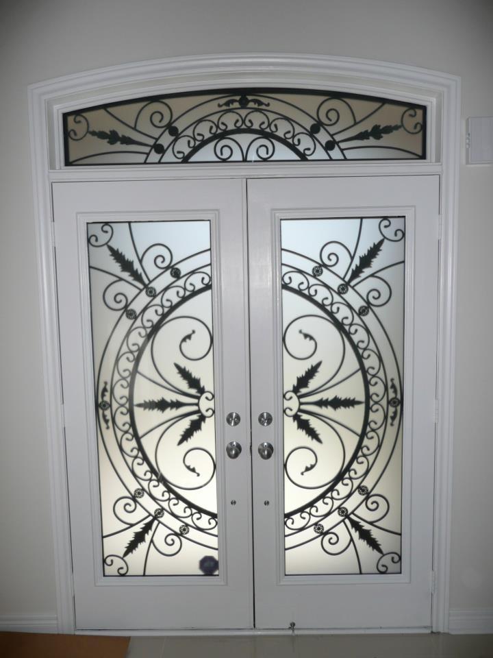 Chesterfield-wrought-Iron-Glass-Door-Inserts-Orangeville-Ontario
