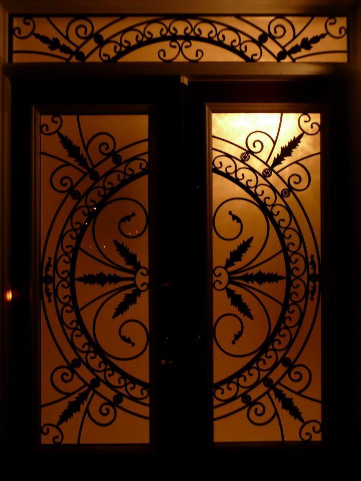 Chesterfield-wrought-Iron-Glass-Door-Inserts-Markham-Ontario