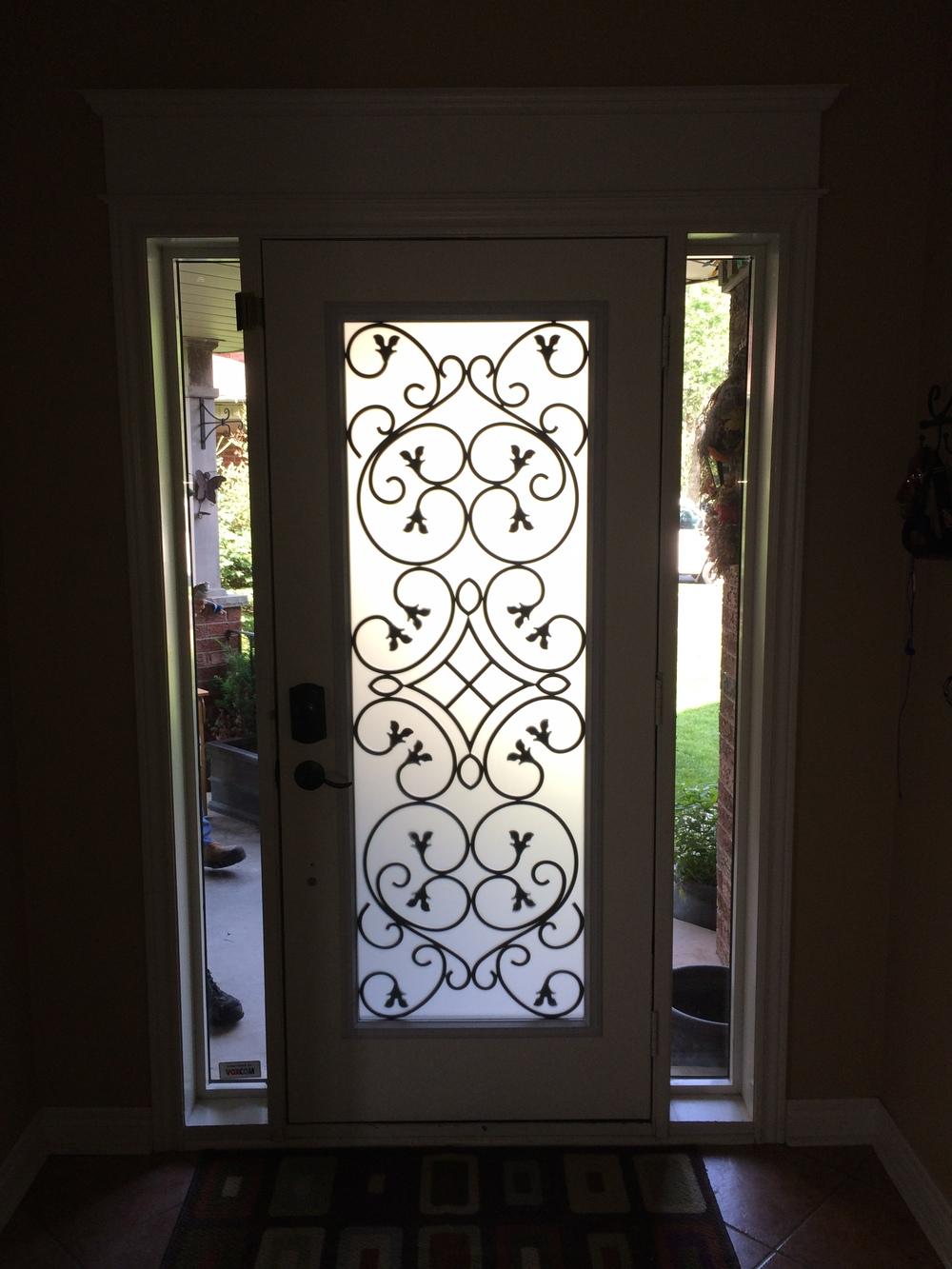 Dovershire-wrought-iron-glass-door-inserts-Vaughan-ontario