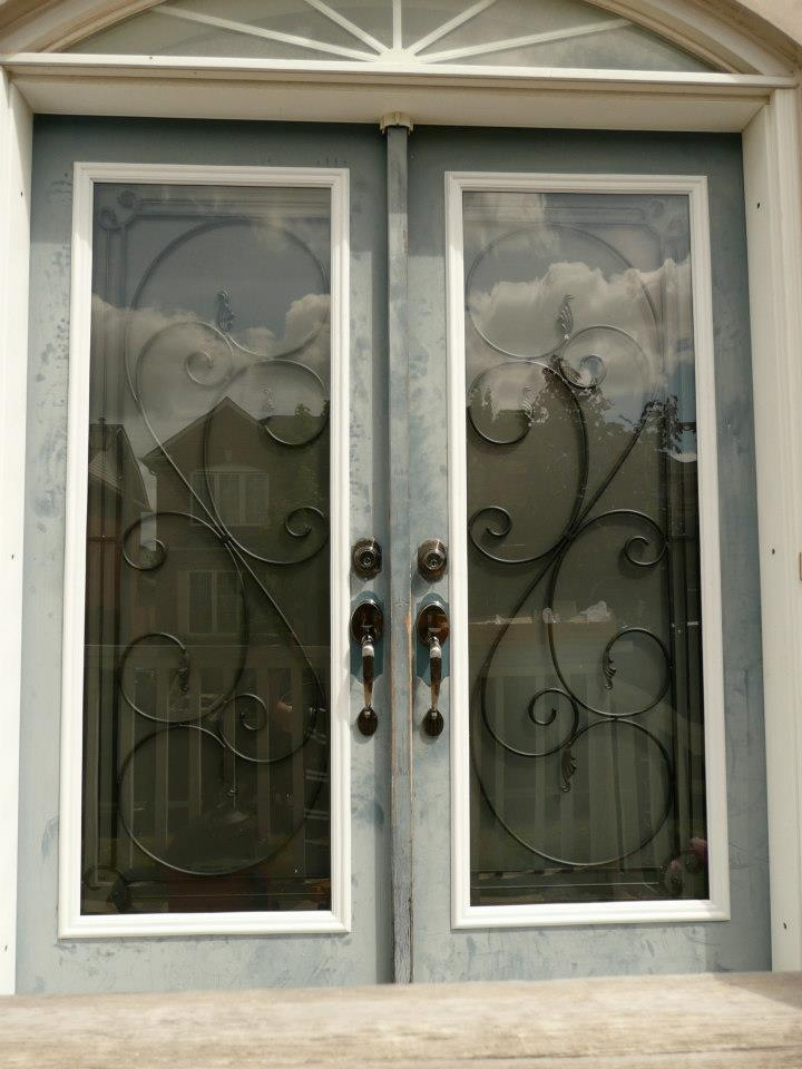 Flamingo-Bay-Wrought-Iron-Glass-Door-Inserts-Markham-Ontario