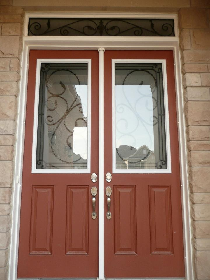 Flamingo-Bay-Wrought-Iron-Glass-Door-Inserts-Pickering-Ontario
