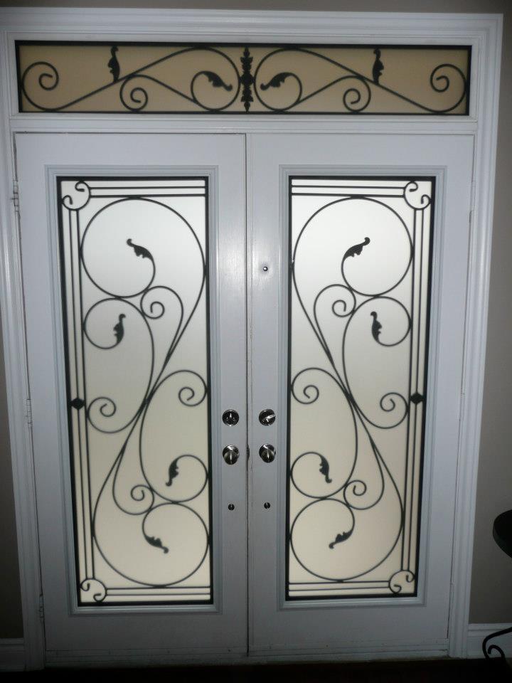 Flamingo-Bay-Wrought-Iron-Glass-Door-Inserts-Toronto-Ontario