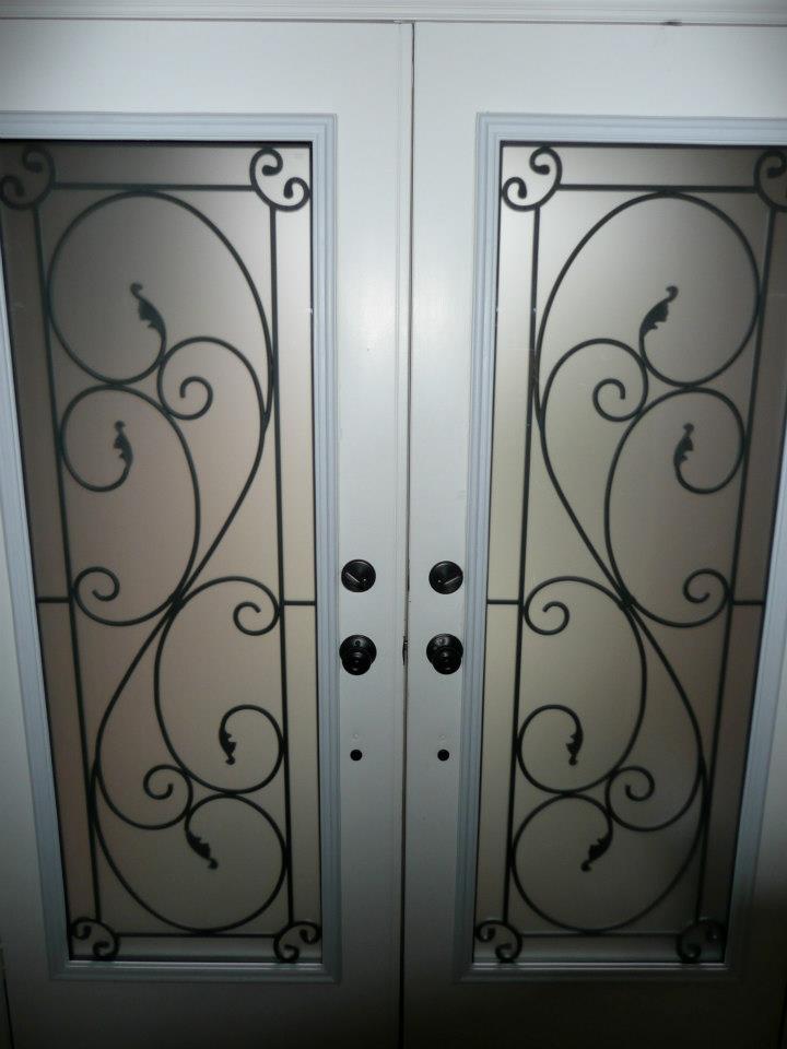 Flamingo-Bay-Wrought-Iron-Glass-Door-Inserts-Courtice-Ontario
