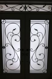 Flamingo-Bay-Wrought-Iron-Glass-Door-Inserts-Aurora-Ontario