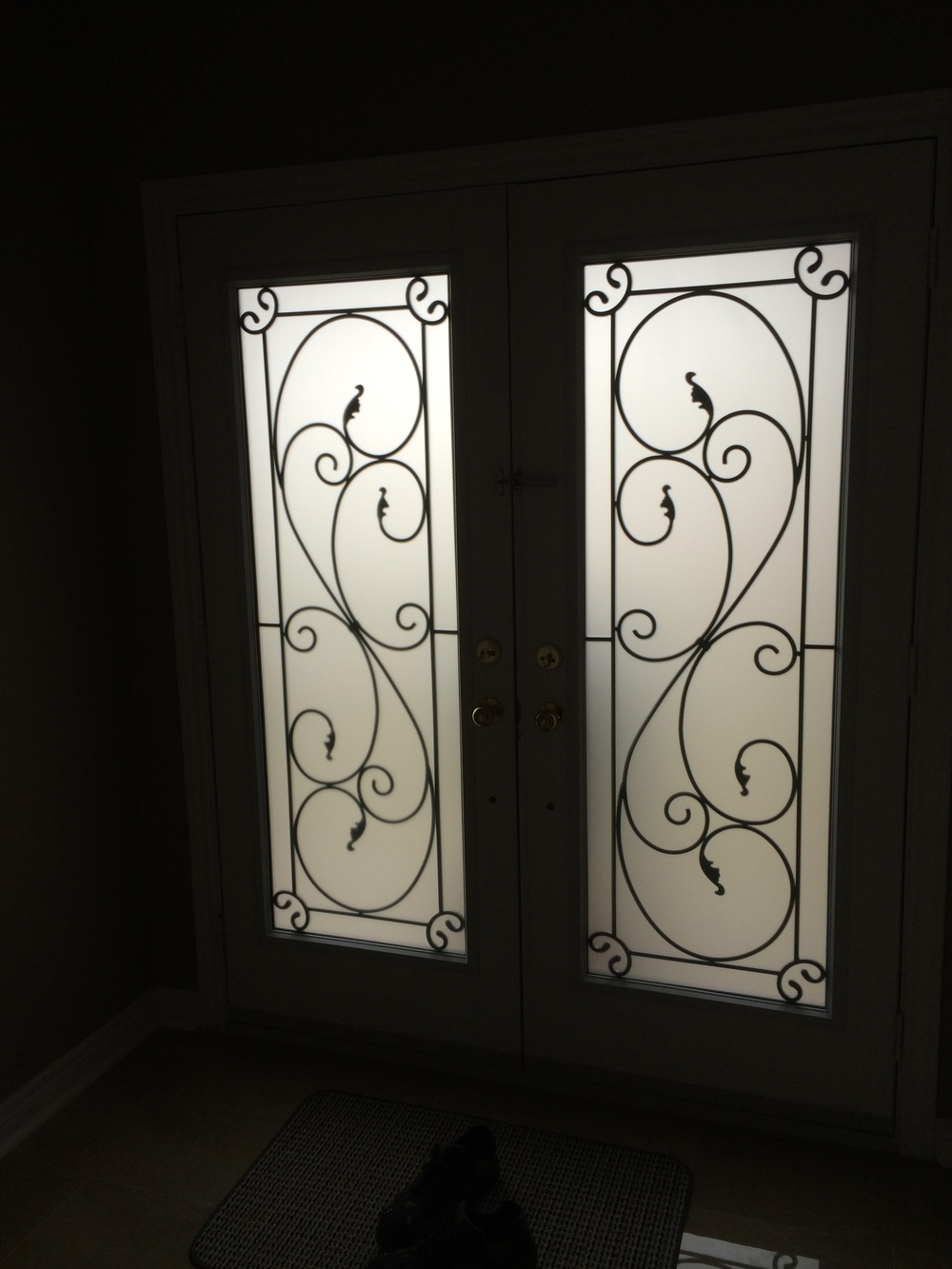 Flamingo-Bay-Wrought-Iron-Glass-Door-Inserts-Bowmanville-Ontario