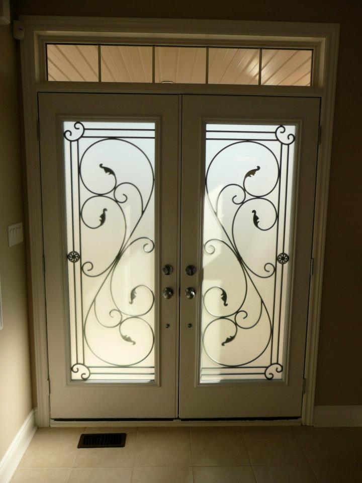 Flamingo-Bay-Wrought-Iron-Glass-Door-Inserts-Newmarket-ontario