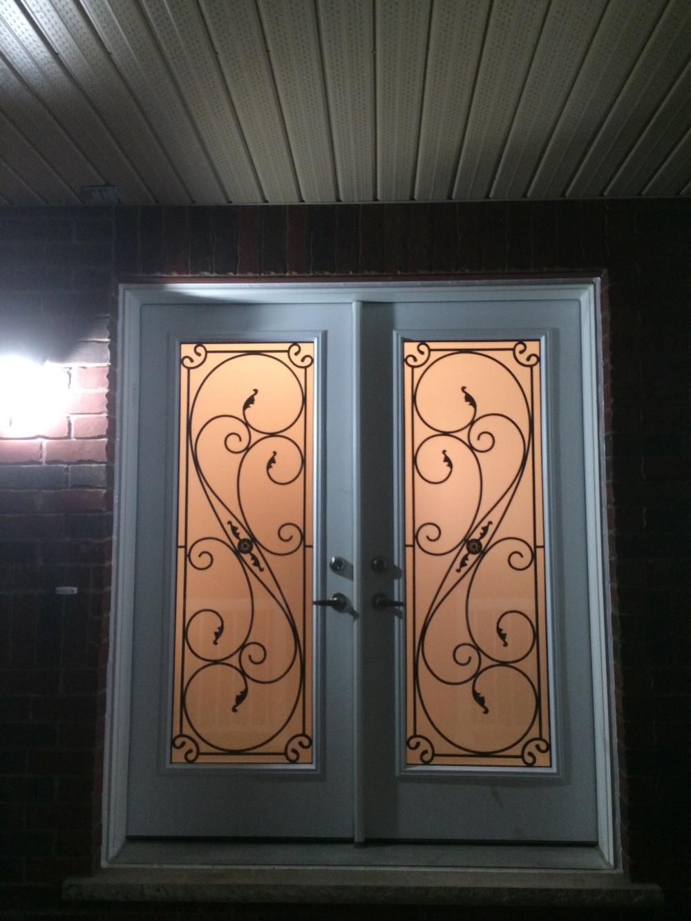 Flamingo-Bay-Wrought-Iron-Glass-Door-Inserts-Bradford-Ontario