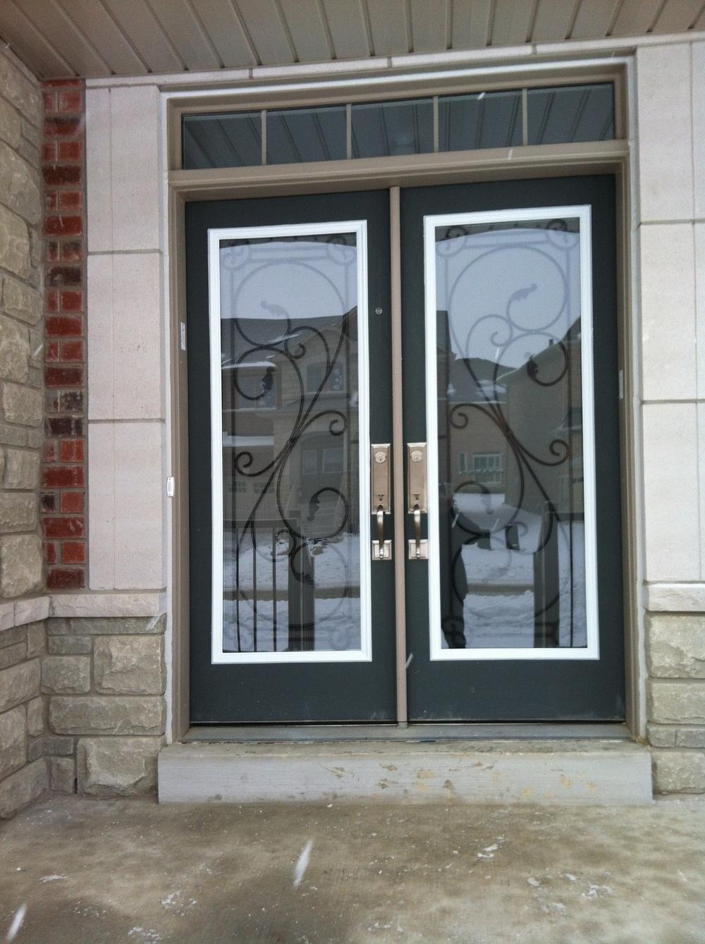 Flamingo-Bay-Wrought-Iron-Glass-Door-Inserts-Innisfil-ontario
