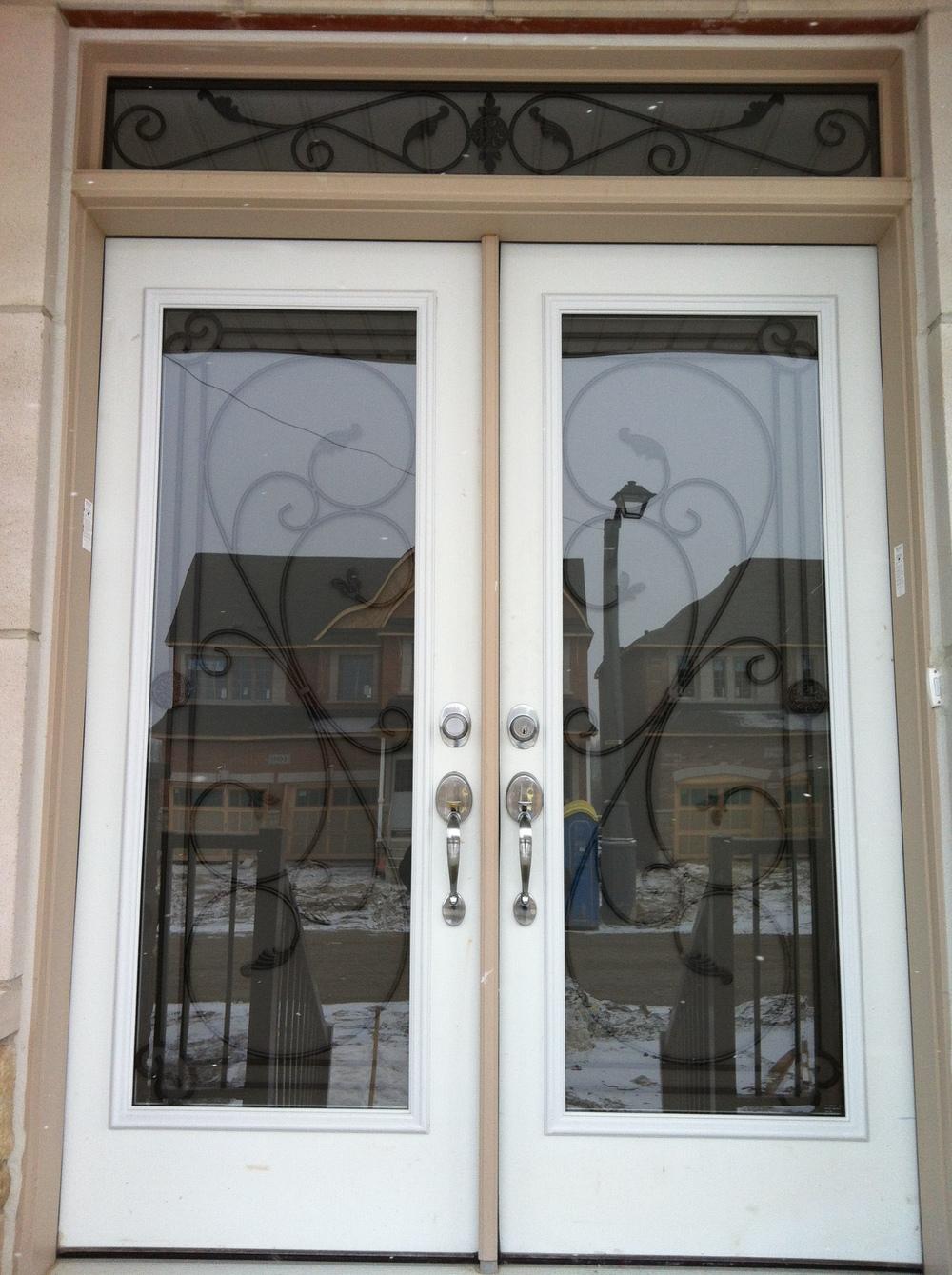 Flamingo-Bay-Wrought-Iron-Glass-Door-Inserts-Orillia-Ontario