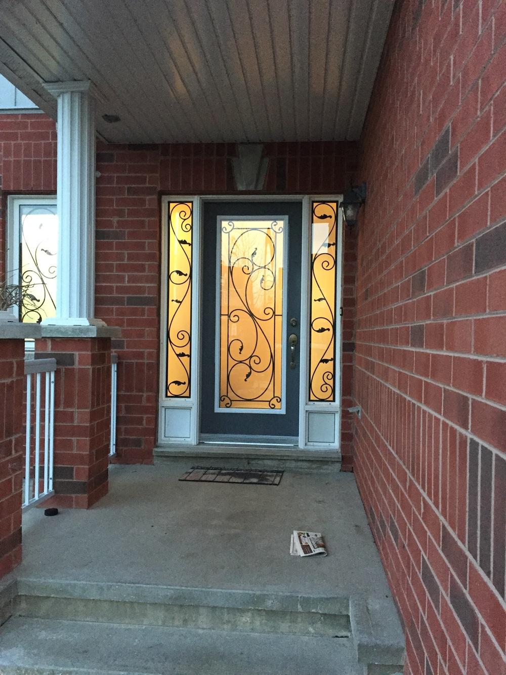 Flamingo-Bay-Wrought-Iron-Glass-Door-Inserts-Collingwood-Ontario